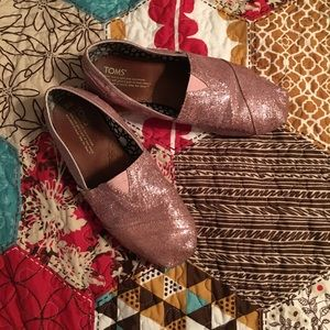 Gently worn pink glitter Toms